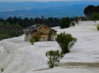 Pamukkale, a tomb in the snow